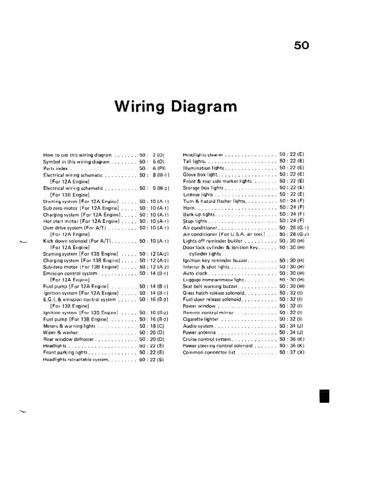 1985 Rx7 50 Wiring Diagrams Pdf 6 9 Mb Repair Manuals English En