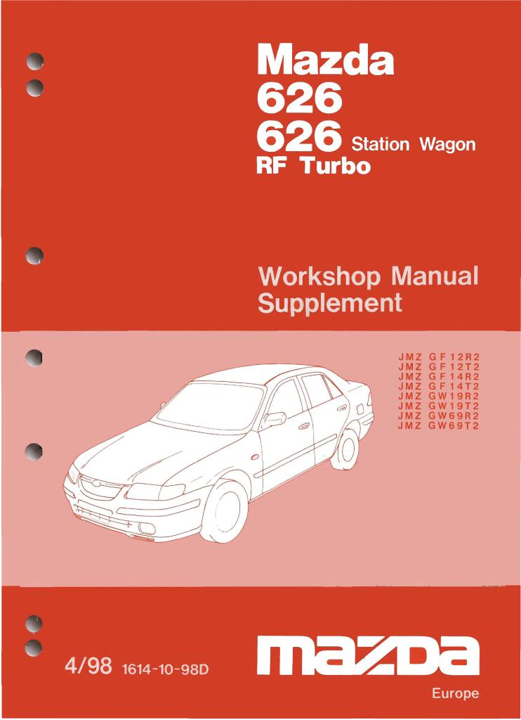 1998 Mazda 626 Rf Workshop Manual Supplement Pdf  9 6 Mb